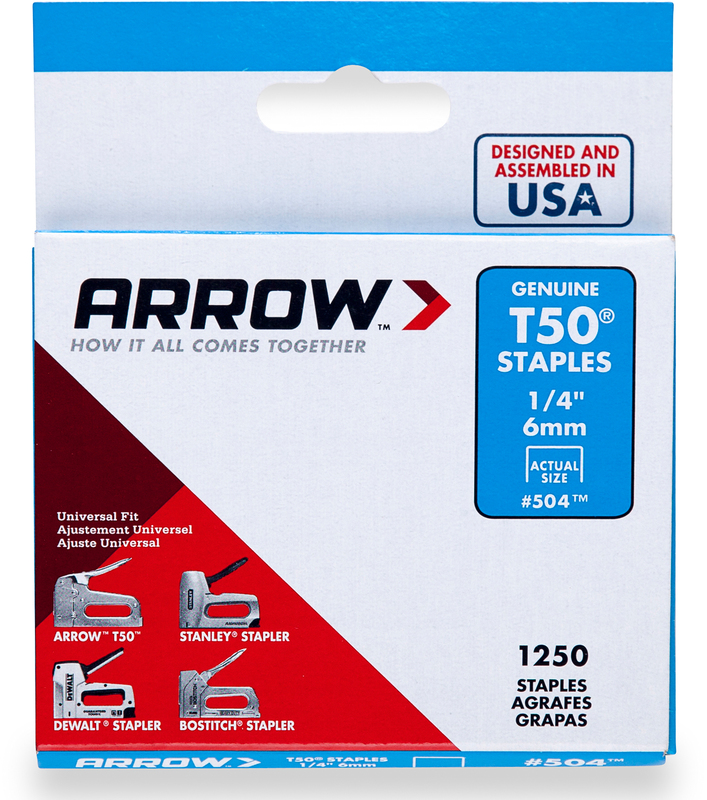 50424 1250PK 1/4 IN. T50 STAPLE
