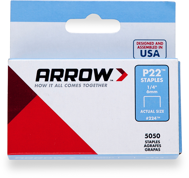 224 1/4 6MM ARROW STAPLE