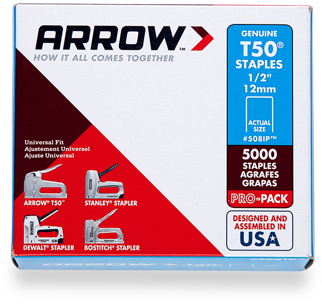 508IP 1/2 IN. T50 5000PK STAPLE