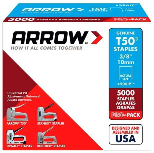 506IP 3/8 IN. T50 5000PK STAPLE