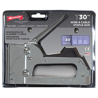 Arrow T30 Light Duty Staple Gun Tacker, Steel, Plastic Stop, Chrome Plated