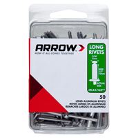 Arrow RLA3/16BP Rivet, 3/16 in Dia, Aluminum