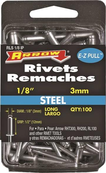 RIVET LONG STEEL 1/8INX1/2IN