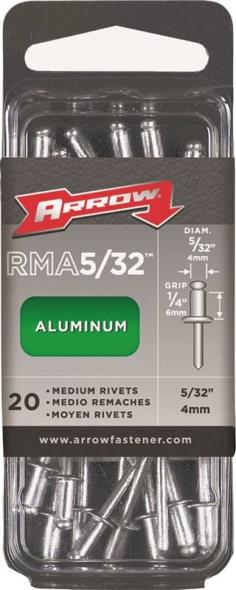 RIVET MEDIUM ALUM 5/32X1/4IN