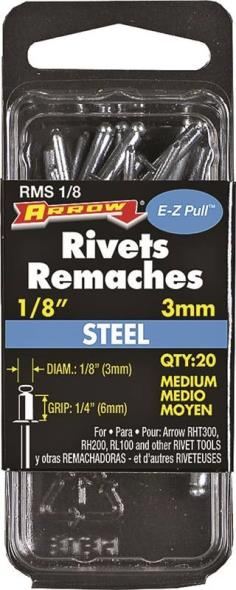 RIVET MEDIUM STEEL 1/8X1/4IN