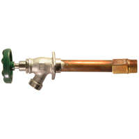 Arrowhead 456-12LF Standard Frost Free Hydrant, 1/2 in, Sweat/MIP, 3-3/4 in Wall, 125 psi, Green Handle