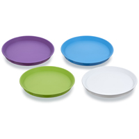 TRAY SERVING ROUND ASSRT COLOR