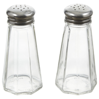 SALT/PEPPER CLEAR GLASS 3OZ