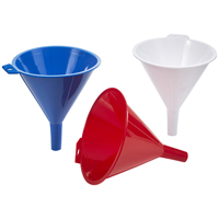 Arrow Plastic 123 Large Spout Funnel, 16 oz, Plastic, Assorted