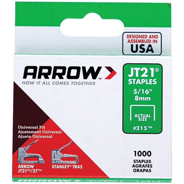 "Arrow 21524 Thin Wire Staples, 1,000 pk (5/16"")"