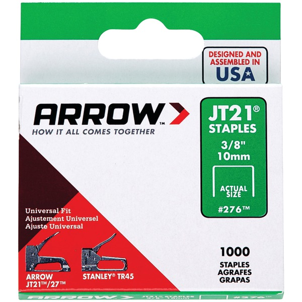 "Arrow 27624 Thin Wire Staples, 1,000 pk (3/8"")"
