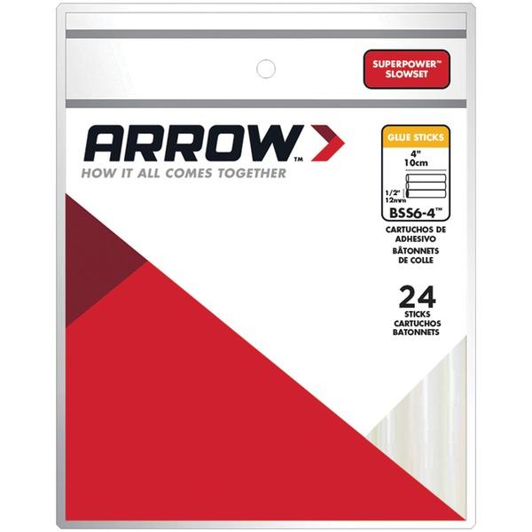 Arrow BSS6-4 SupePower SlowSet Glue Sticks, 24 pk