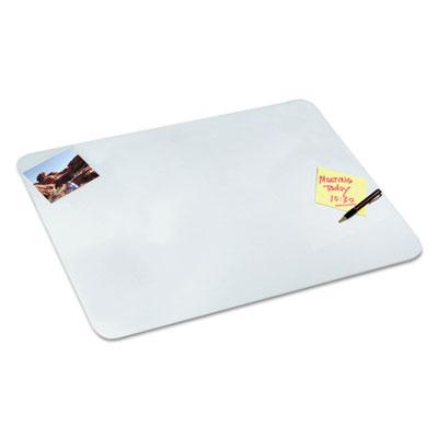 Clear Desk Pad, 17 x 22, Clear Polyurethane