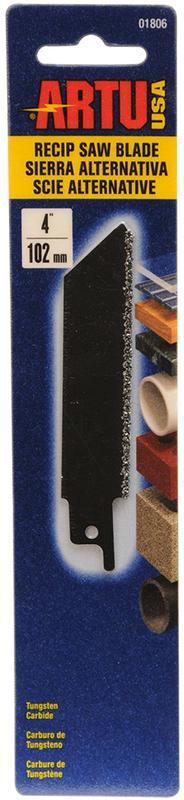 ARTU 01806 Reciprocating Saw Blade, 4 in L X 3/4 in W, 12 TPI