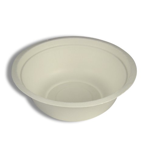 Compostable Tableware, 16oz Bowl, Beige, 500/Carton