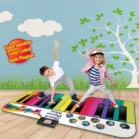 RAINBOW COLORS RCPM1  6 FOOT GIANT PIANO MAT