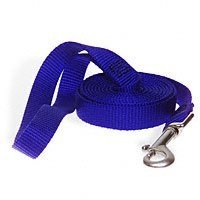 Aspen 21088 Double Pet Leash, 1 in W X 6 ft L, Nylon, Blue