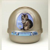 Booda Dome 22172 Covered Enclosed Cat Litter Box, Titanium/Iris
