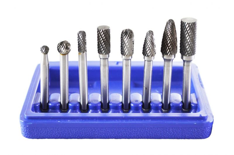 Astro 2181 Double Cut Carbide Rotary Burr Set with 1/4Inch Shank