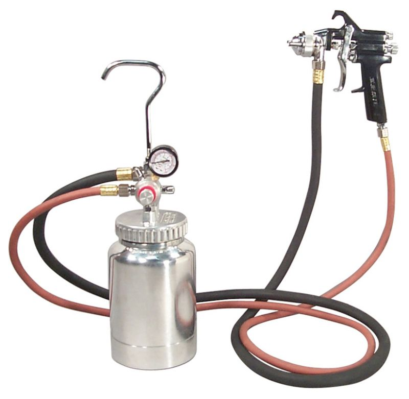 Astro 2PG7S 2 Quart Pressure Pot with Gun and Hose Paint and Body Spray Guns