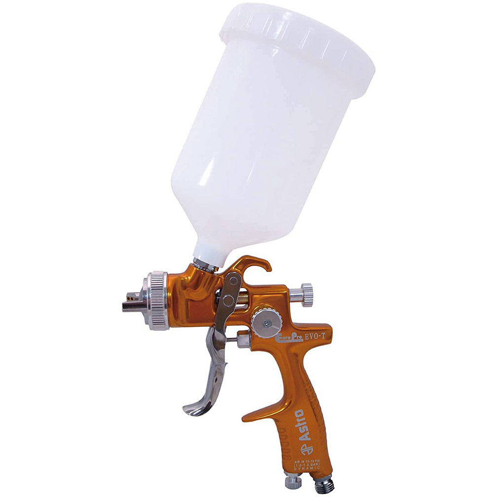 Astro EuroPro Forged LVLP Spray Gun with 1.4mm Nozzle and Plastic Cup