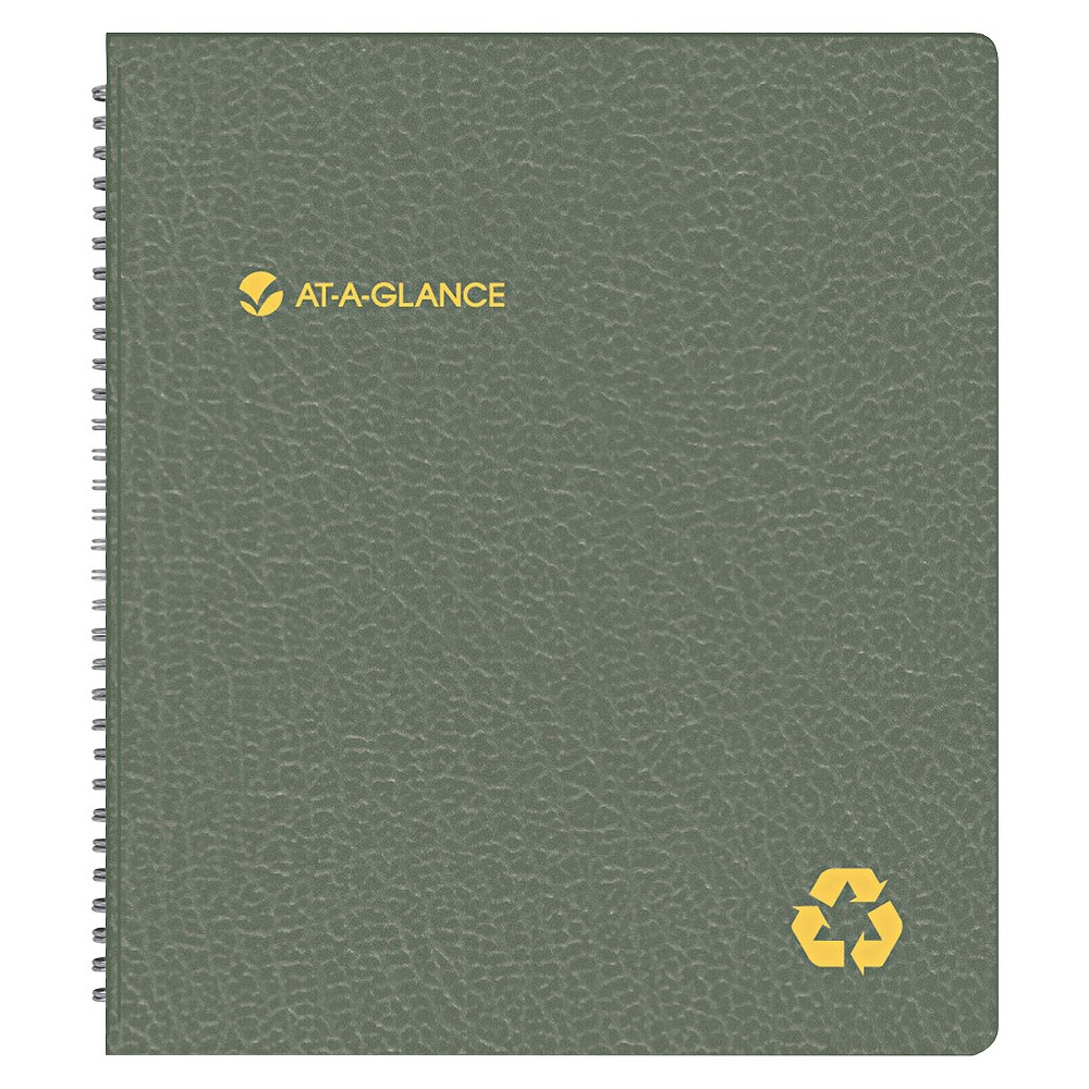 Recycled Monthly Planner, 9 x 11, Black, 2017-2018