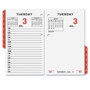 Two-Color Desk Calendar Refill, 3 1/2 x 6, 2017