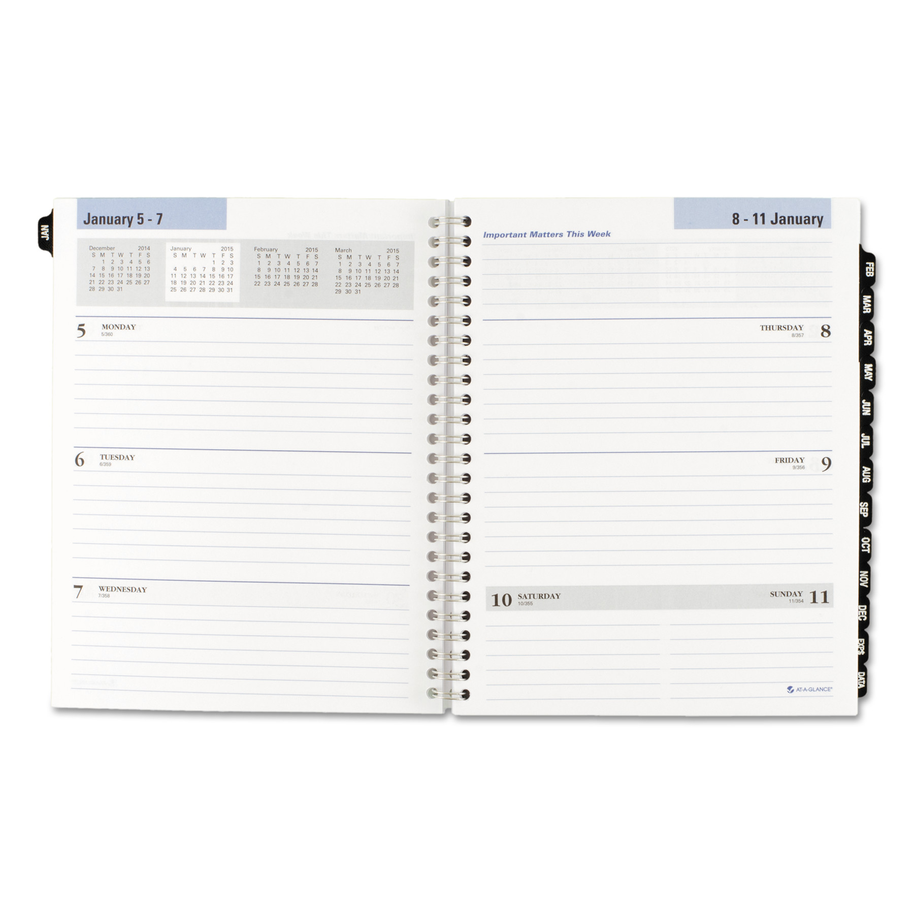 Executive Weekly/Monthly Refill, 6 7/8 x 8 3/4, 2017