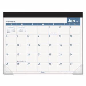 Easy-to-Read Monthly Desk Pad, 22 x 17, Easy-to-Read, 2017