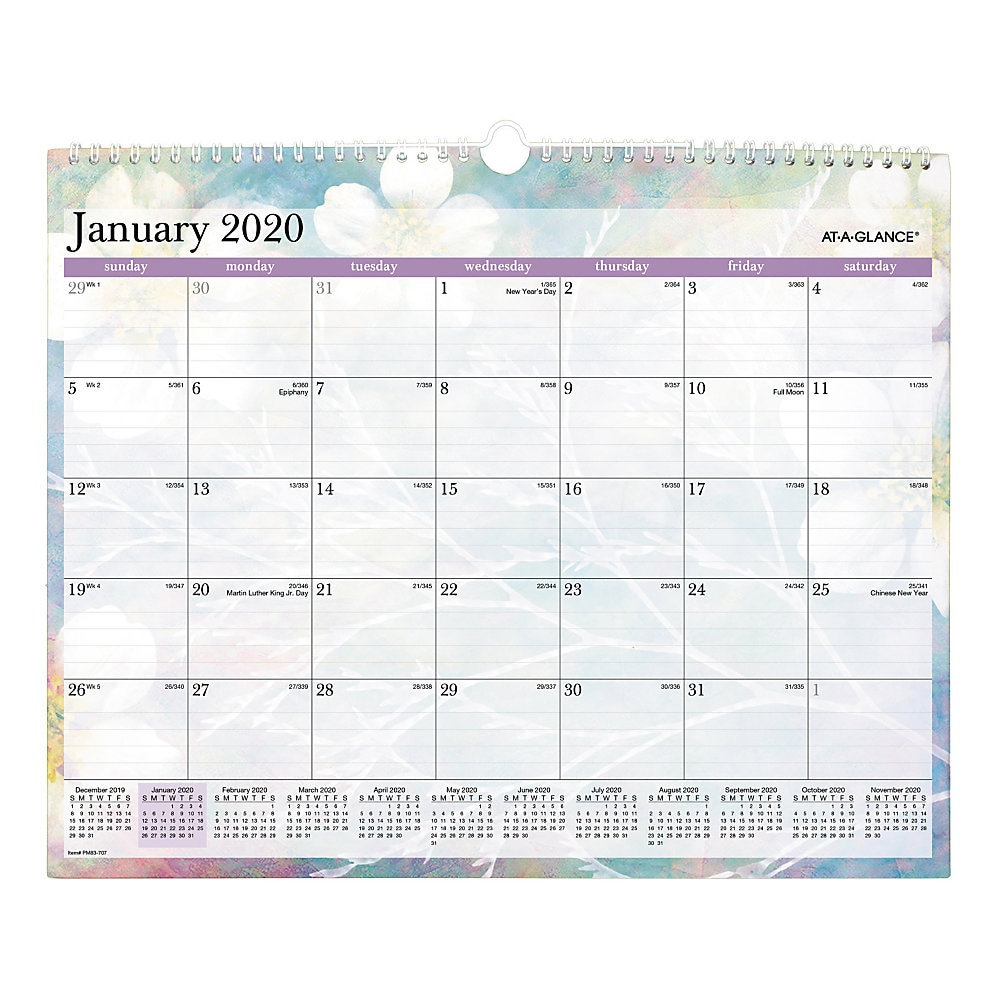 Dreams Wall Calendar, 15 x 12, 2020