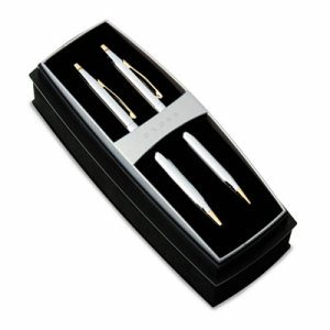 Classic Century Ballpoint Pen & Pencil Set, Chrome/23kt. Gold Plate