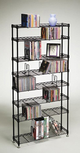 ATLANTIC 3020 MULTIMEDIA STORAGE RACK (8 SHELVES)