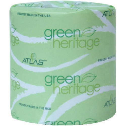 Green Heritage Toilet Tissue, 3 1/8 x 4 1/10 Sheets, 2Ply, 400/Roll, 96 Rolls/CT