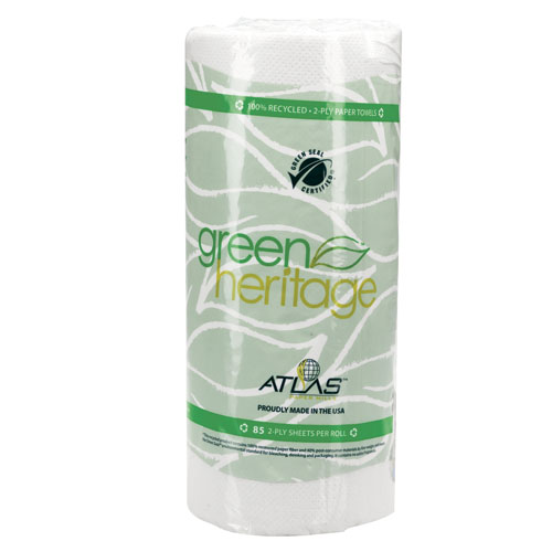 Atlas Paper Mills Green Heritage Kitchen Roll Towels, 30 Rolls