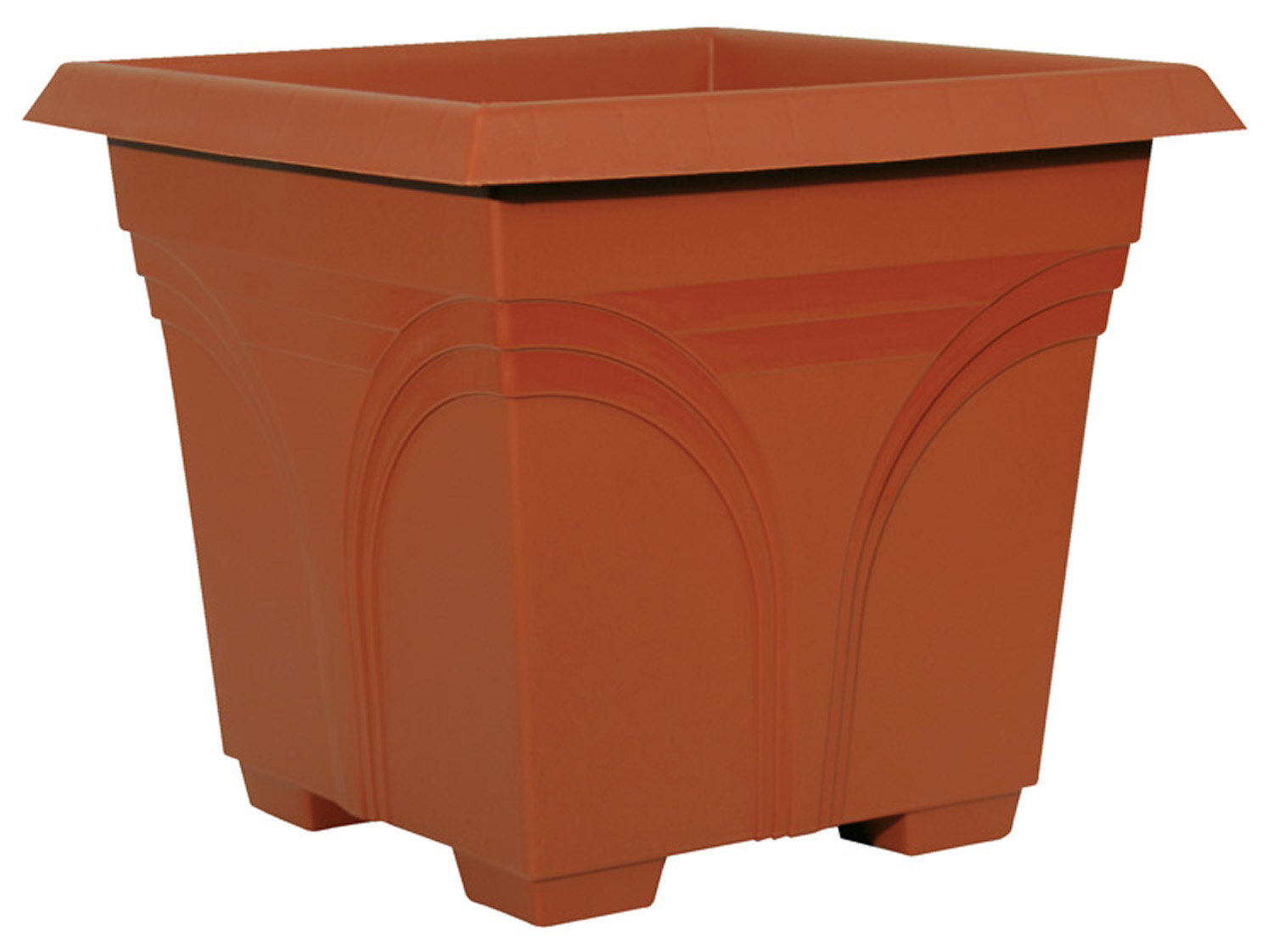 ATT SOUTHERN PATIO Ames 15in. Terra Cotta Medallion Deck Planter DP1510TC - Pack of 10