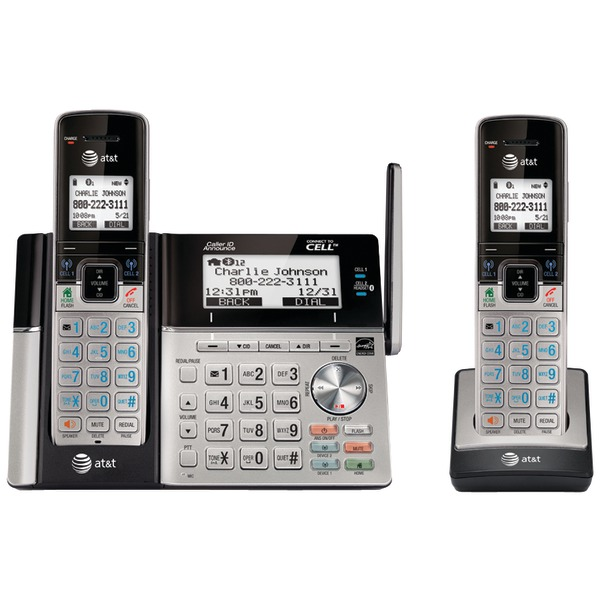 AT&T TL96273 DECT 6.0 Connect-to-Cell 2-Handset Phone System with Dual Caller ID