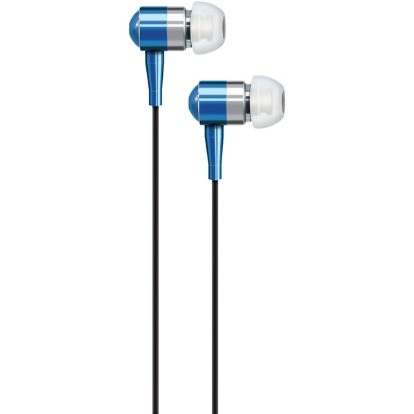 AT&T PEB02-BLU PEB02 In-Ear Aluminum Stereo Earbuds (Blue)