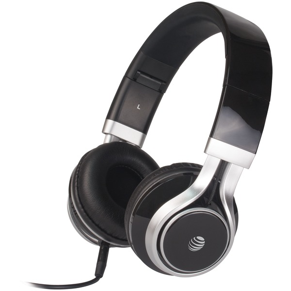 AT&T HPM10-BLK Stereo Over-Ear Headphones with Microphone (Black)