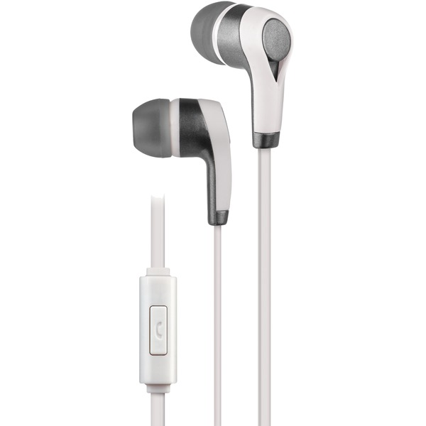 AT&T PE10-WHT PE10 In-Ear Stereo Earbuds with Microphone (White)