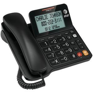 Corded Speakerphone with Display - BLACK