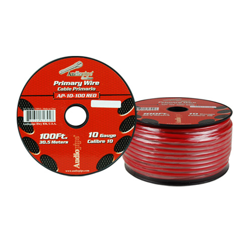 Audiopipe 10 Gauge 100Ft Primary Wire Red