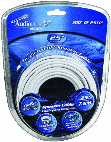 Audiopipe 12GA 25FT Marine Speaker Cable
