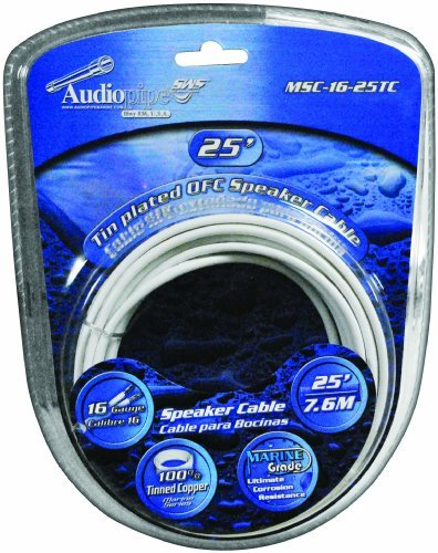 Audiopipe 16GA 25FT Marine Speaker Cable