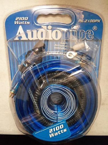 AMP WIRING KIT AUDIOPIPE 4 GA.PLATINUM FOR UP TO 2100WATTS