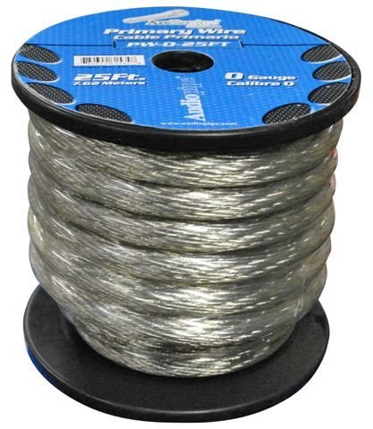 POWER WIRE AUDIOPIPE 0GA. 25' SILVER