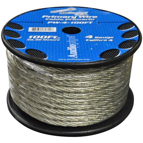 POWER WIRE AUDIOPIPE 4GA 100' BLUE