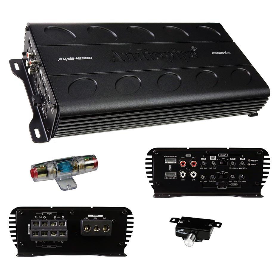 Audiopipe 4 Channel Mini Amplifier Class D 2500W