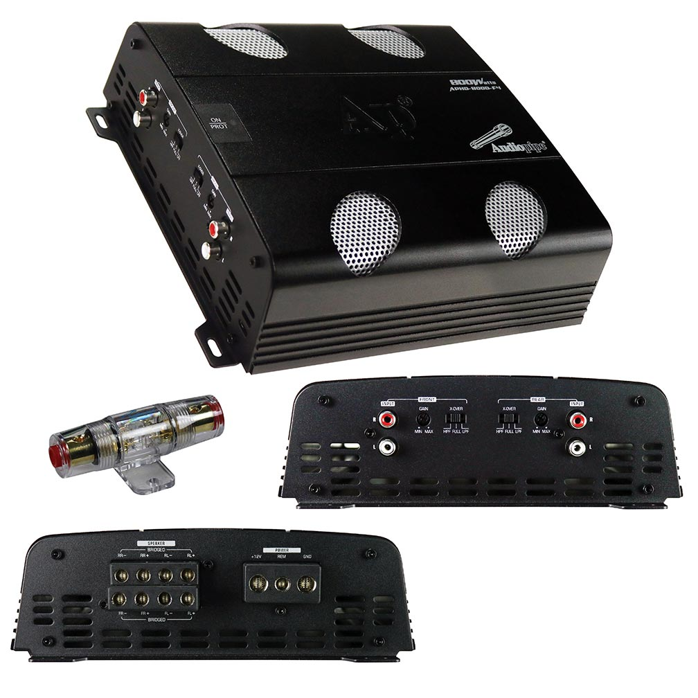 Audiopipe Amplifier D Class 4 Channel 800 Watts