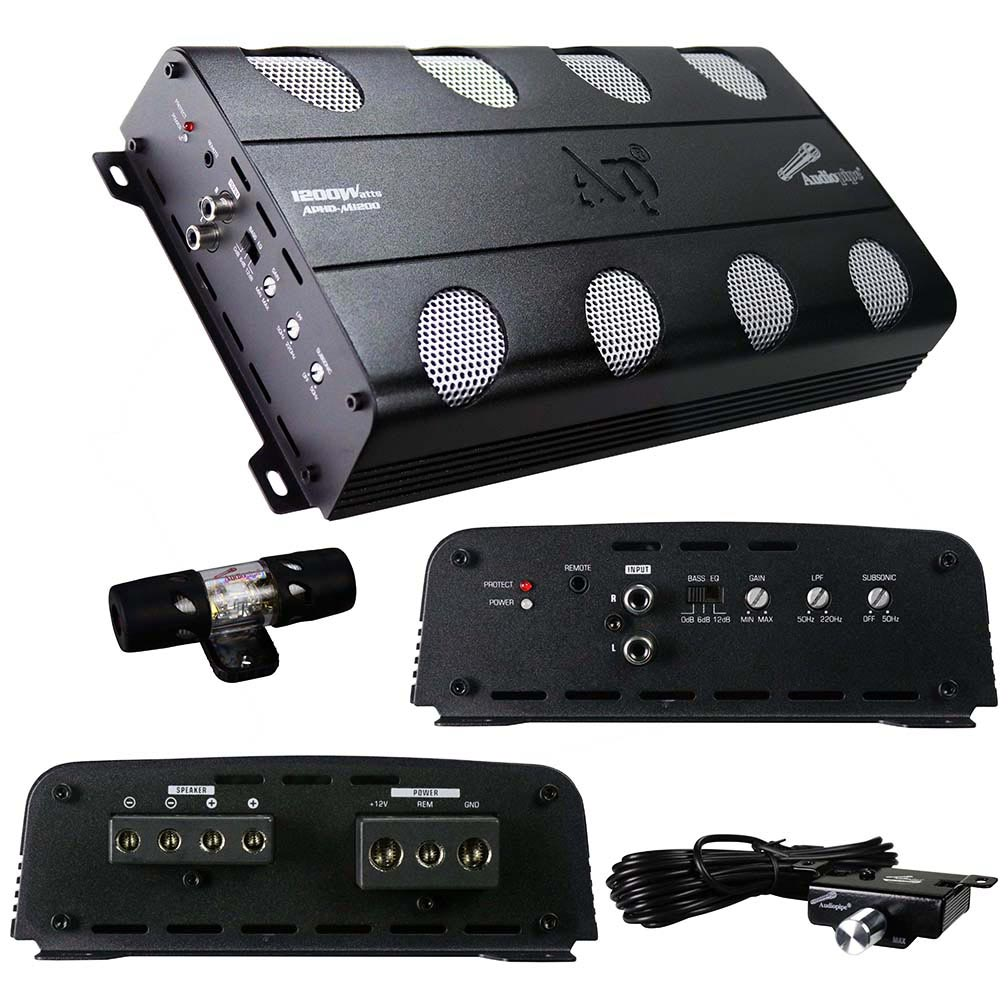 Audiopipe Amplifier D Class 1200 Watts
