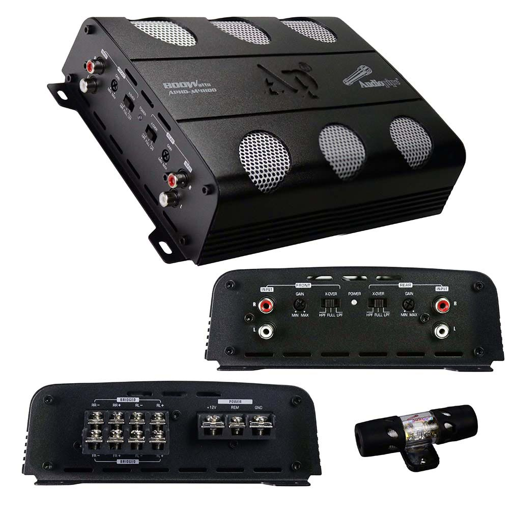 Audiopipe Amplifier D Class 4 Channel 800 Watts